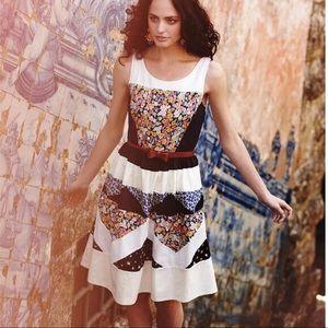 Sz 0 Leifnotes (Anthro) Ivete Patchwork Dress